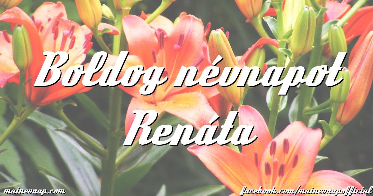 boldog névnapot renáta Boldog névnapot Renáta boldog névnapot renáta